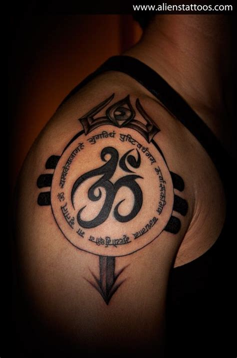om with trishul tattoo designs om with mantra and trishul extension s