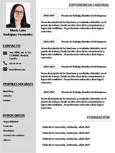 Plantilla De Curriculum Con Foto Plantillas De Curriculum Vitae Related Keywords Plantillas De Curriculum Vitae