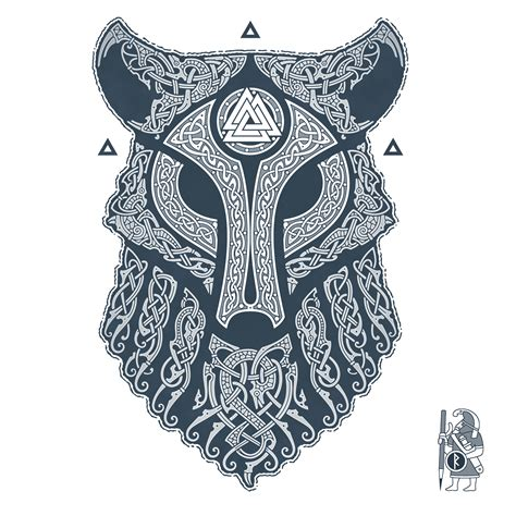 norse tattoo design ulfhednar wolf knotwork by raidho tattoos