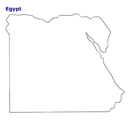 map of egypt terrain area and outline maps of egypt