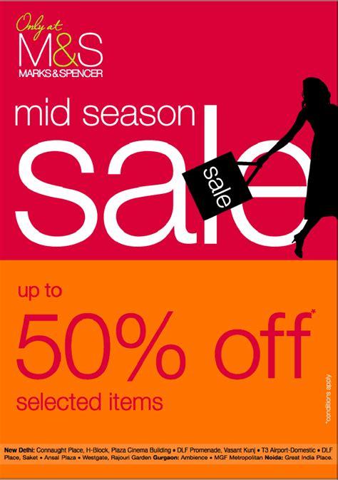 Sle Sale Season Starts by Marks Spencer Mid Season Sale Upto 50 On Selected
