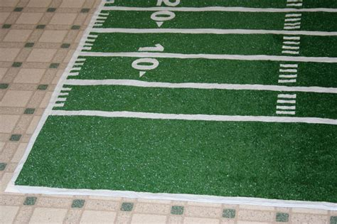 How To Make A Football Field Out Of Paper - make a football field rug chica and jo