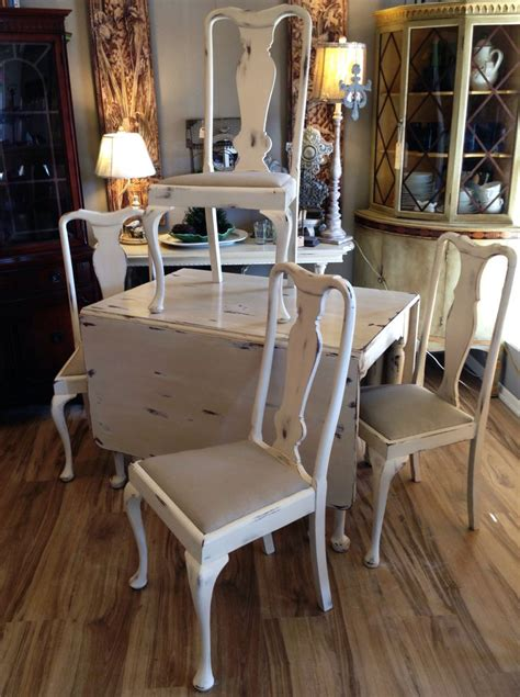 centerpiece hand painted end tables distressed white rustic of with pictures simple living room solid cherry drop leaf table and hand made chairs painted