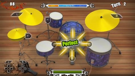 rhythm drum game drums challenge review music centric psp minis