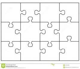 rompecabezas blanco grande stock de ilustraci 243 n imagen