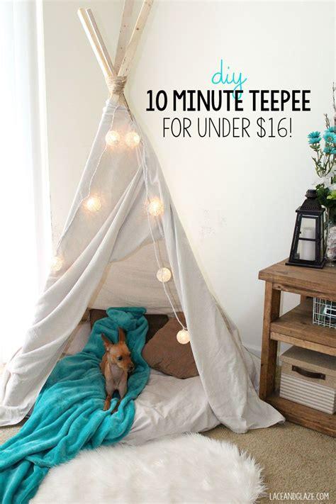 tipi kinderzimmer diy diy 10 minute teepee for 16 kinderzimmer zuhause