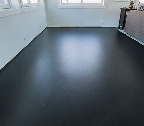 black paint tile floor living room flooring ideas