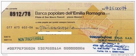 conto deposito popolare emilia romagna popolare dell 180 emilia romagna assegno bancario