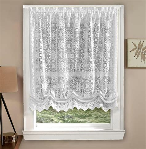 Balloon shade curtains lace window treatments design ideas