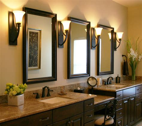 Bathroom Vanity And Mirror Ideas Want To Add Dark Cabinet Double Vanity Amp Shower For