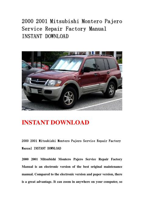 small engine service manuals 2000 mitsubishi montero sport lane departure warning 28 2001 mitsubishi montero sport owners manual 12156 2001 mitsubishi montero sport for