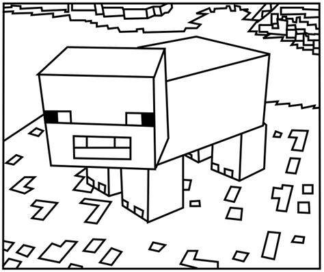 minecraft food coloring pages printable minecraft pig coloring pages coloring kids