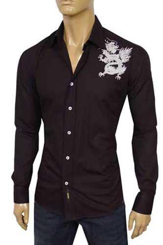 mens designer clothes versace fitted dress shirt 118