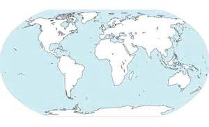 free world continental vector map free vector