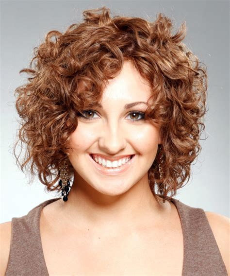 casual hairstyles for medium length curly hair medium curly casual hairstyle light brunette