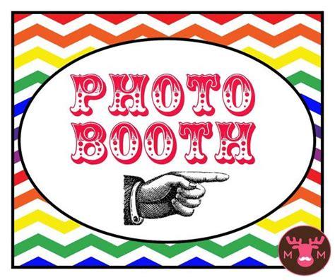 rainbow photo booth props printable photo booth props photo booth sign rainbow sign