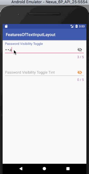 layout android visibility android textinputlayout exle journaldev