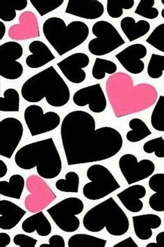 Obsession Nicky Hearts Pink And Black by Backgrounds On Iphone Wallpapers