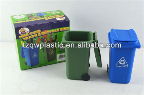 Small Plastic Desk Bins Plastic Mini Desk Wheelie Bin Pen Holder Desk Tidy Buy