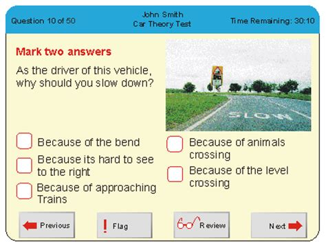 layout of a theory test theory test advice about the theory test