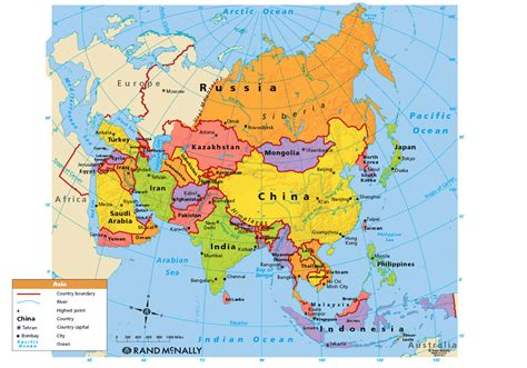 political map of asia asia map political