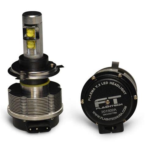flash tech usa flashtech v 3 plasma led replacement headlight bulbs h4