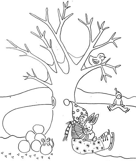 imagenes de invierno infantiles para colorear dibujo invernal para colorear