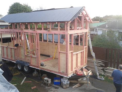Framing Up Our Tiny House In 10 Days Tiny House Framing Plans On A Trailer