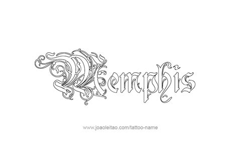 memphis tattoo designs name designs