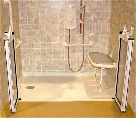 barrier free shower doors barrier free shower with folding seat and caregiver doors