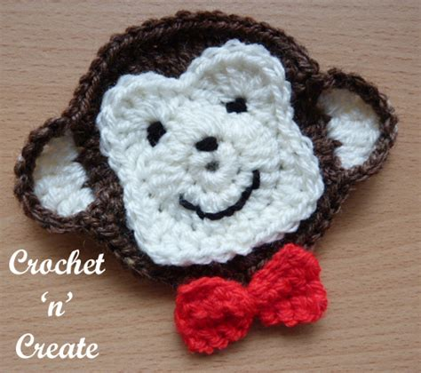 monkey applique monkey appliqu 233 free crochet pattern crochet n create