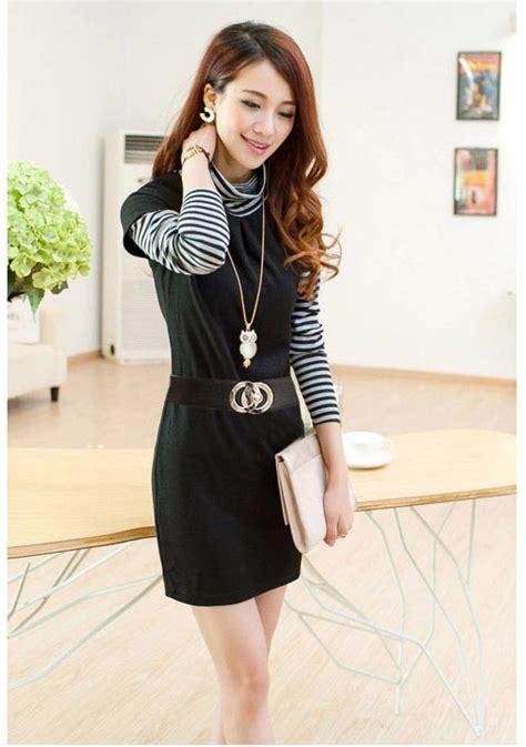 Dress Dr Dress Wanita Katun Hitam Limited dress wanita hitam putih lengan panjang model terbaru