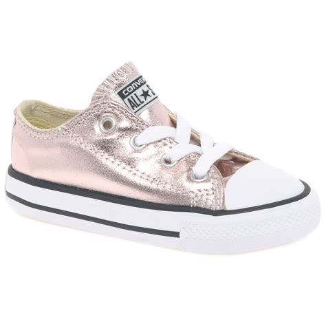 converse all oxford metallic infant shoes