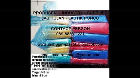 jas hujan plastik xco disposable coat produsen