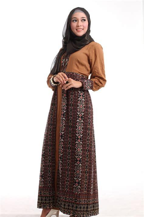 Model Baju Batik Muslim 18 model baju muslim batik ekslusif elegan dan fashionable