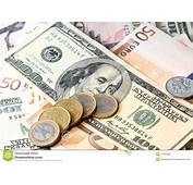 Paper Money And Coins Royalty Free Stock Image