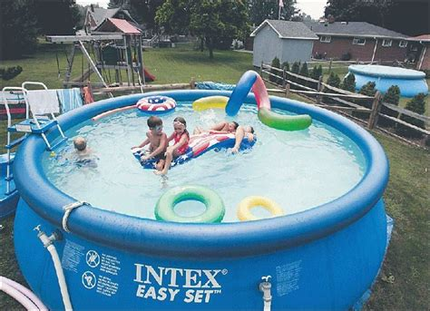 backyard blow up pools inflatable pools make a splash but owners irked over permits toledo blade