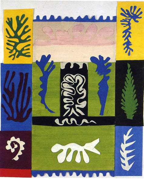 matisse cut outs poster set anfitrite 1947 henri matisse wikiart org