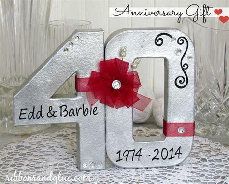 40th wedding anniversary gift ribbons glue