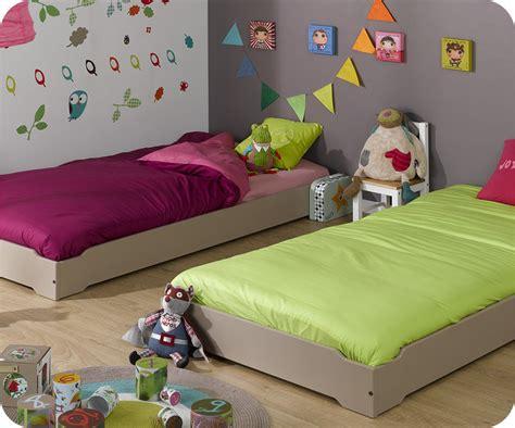lit enfant empilable blanc 90x190 cm lit pour enfant bois