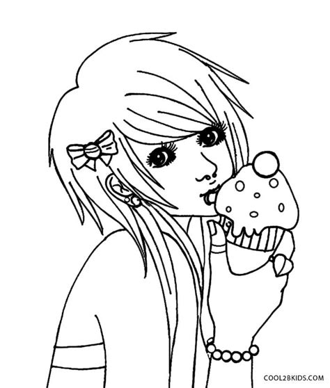 emo coloring pages az coloring pages