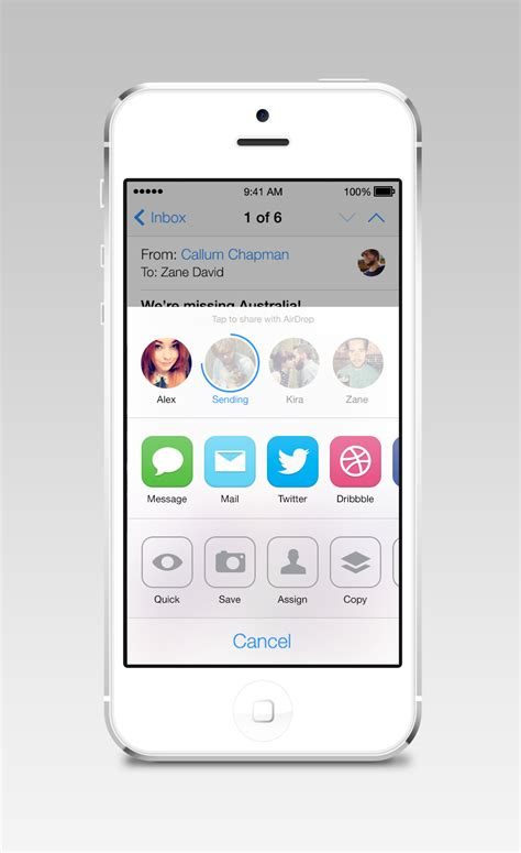 app design zane dribbble ios7 airdrop large png by zane david