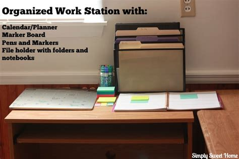 Organize Desk At Work Creating An Organized Work Station For Simply Sweet Home