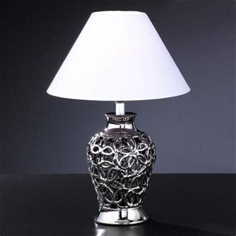 tischleuchter silber neu moderne 40cm tischleuchte keramik silber