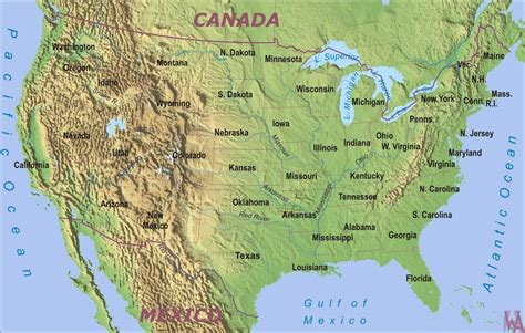map of usa with rivers and mountains physical geographical map of usa with rivers and mountains