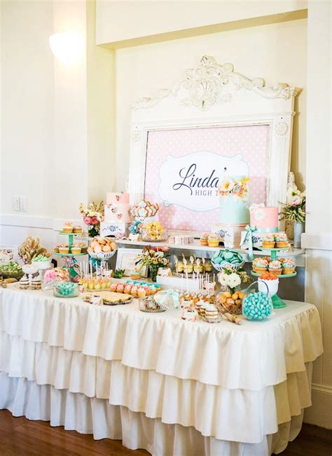 High Tea Bridal Shower vintage floral high tea bridal shower hostess with the
