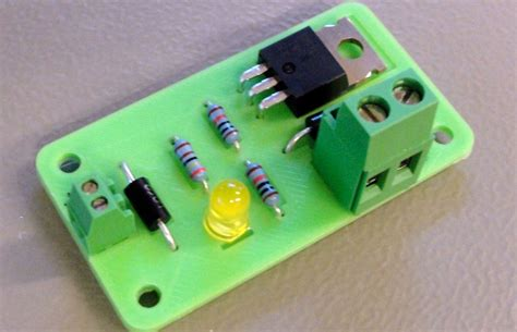 simple circuit board creating a 3d printable circuit board for a practical