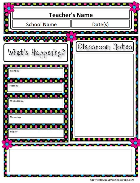 classroom newsletter template word free templates