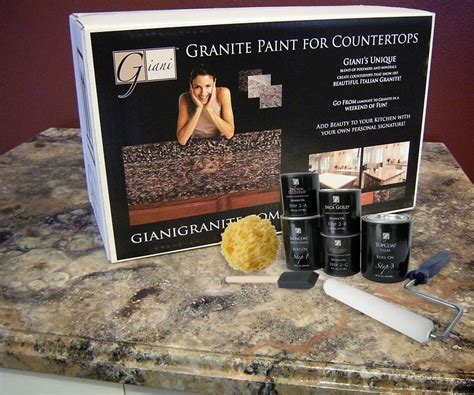 Faux Granite Countertop Paint Kit by Giani Countertop Paint Kits Dudeiwantthat