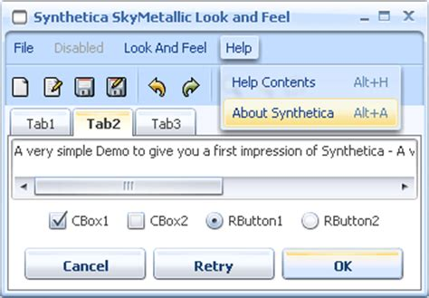 java themes look and feel synthetica java look and feel